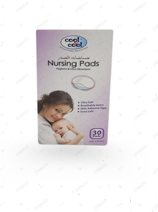 Cool & Cool Nursing Pads Hygienic With Ultra Absorbent 30 Count