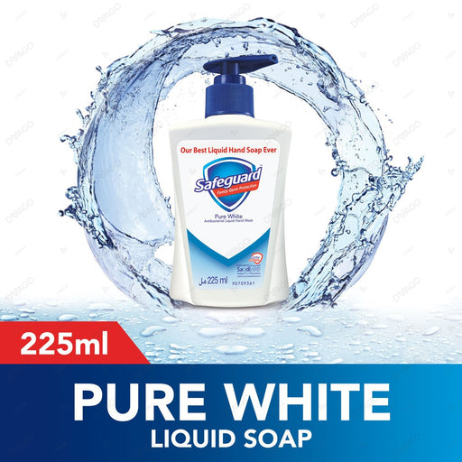Safeguard Pure White Liquid Hand Wash Soap 225ml