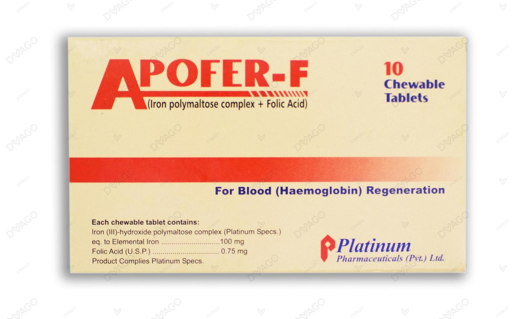 Apofer F Tablets 10's