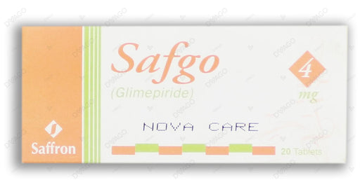 Safgo 4mg Tablets 20's