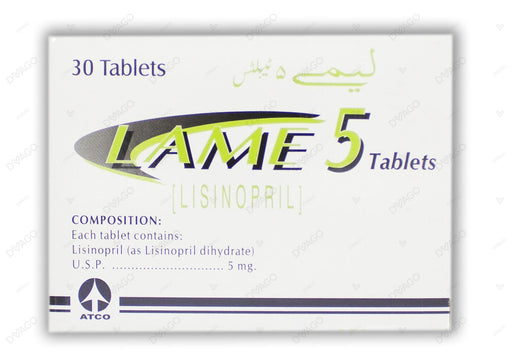 Lame Tablets 5mg 2X15's
