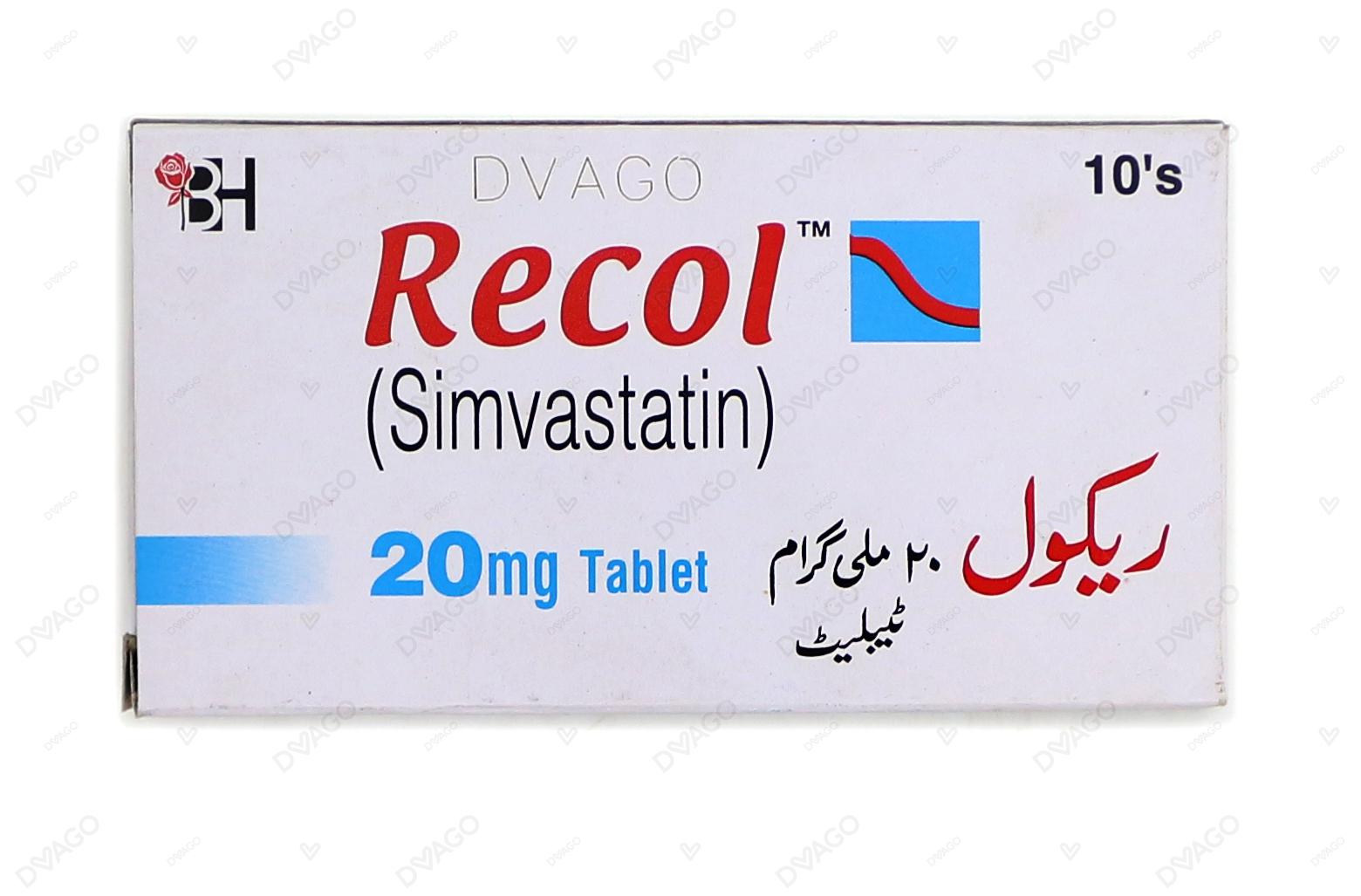 Recol Tablets 20mg 10's