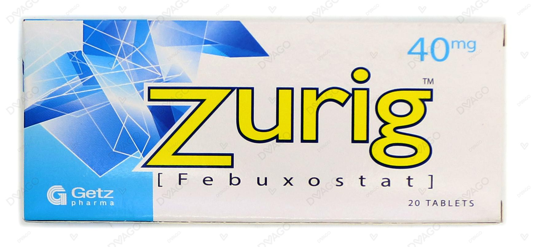 Zurig Tablets 40mg 20's