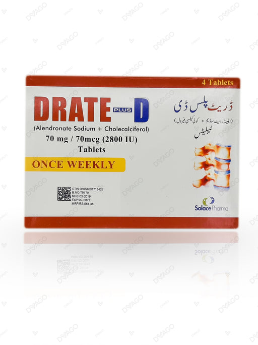 Drate Plus D Tablets 4's