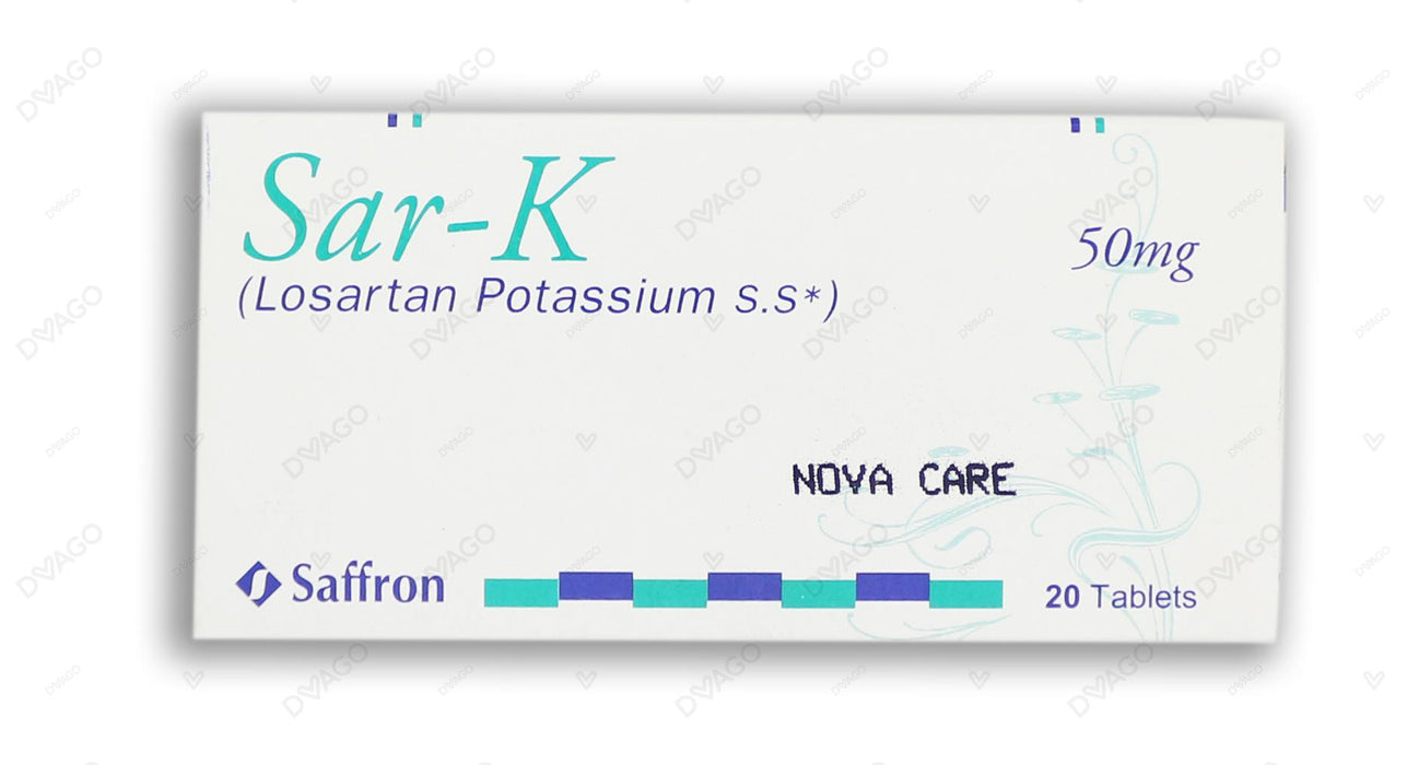 Sar-K Tablets 50mg 20's