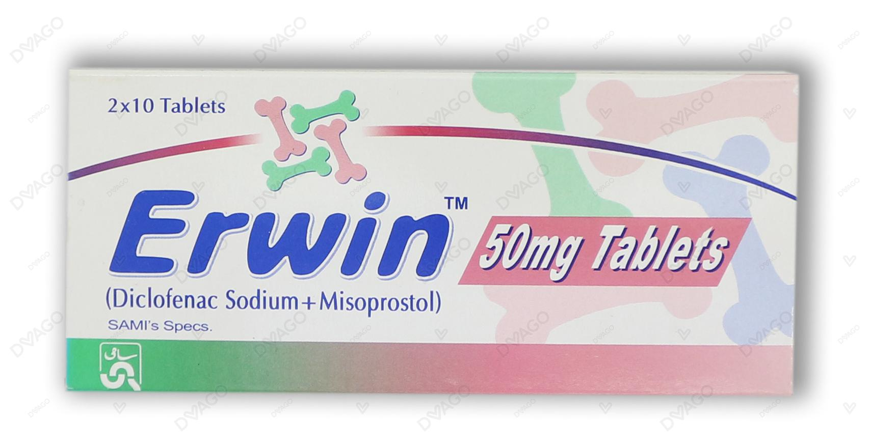 Erwin 50mg Tablets 20's