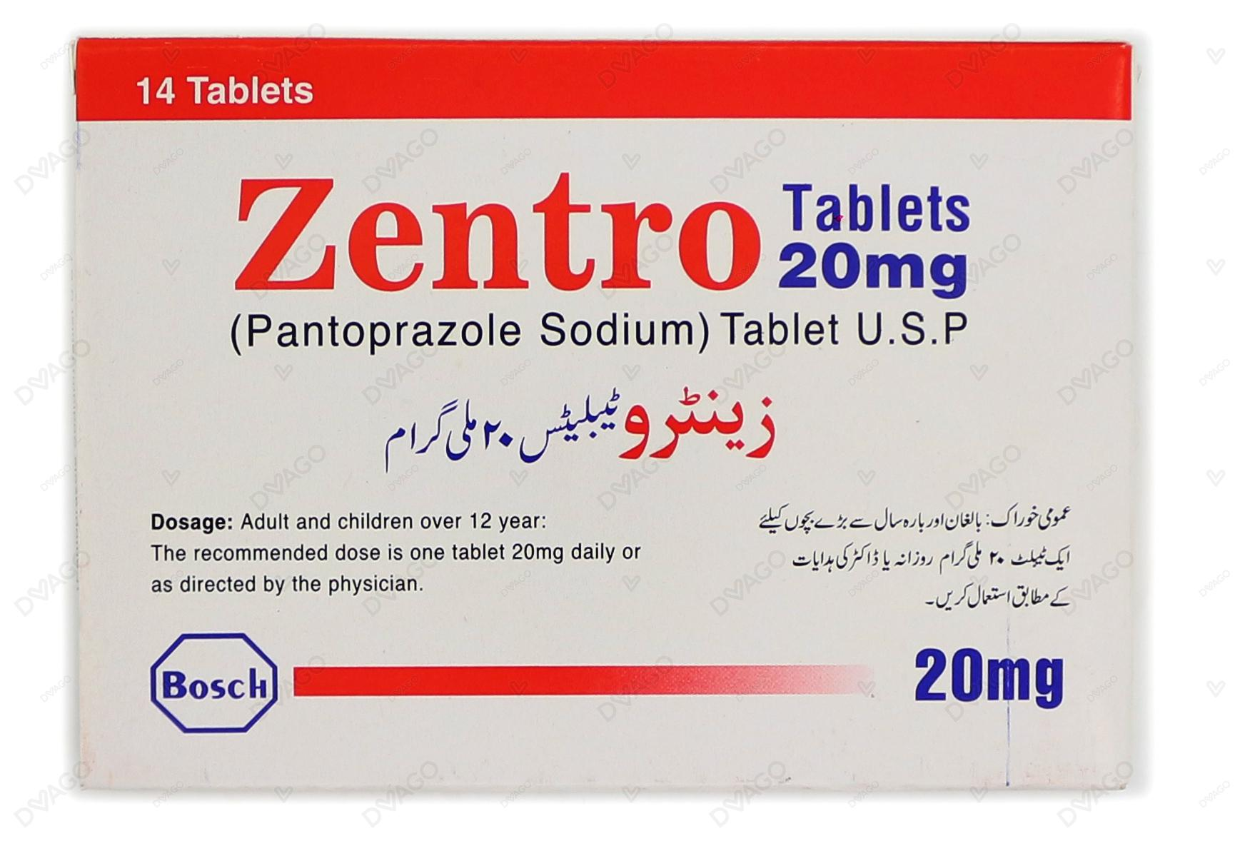 Zentro Tablets 20mg 14's