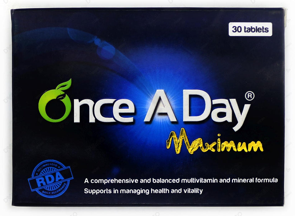 Once A Day Maximum Tablets 30's