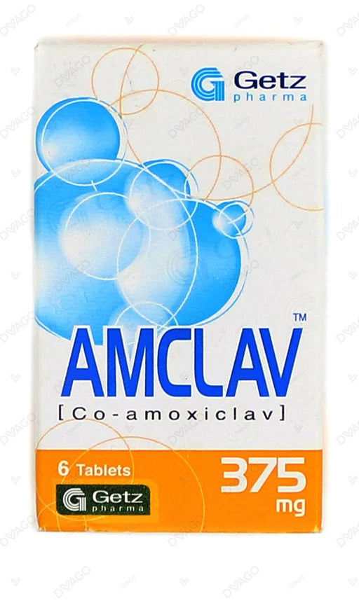 Amclav Tablets 375mg 6's