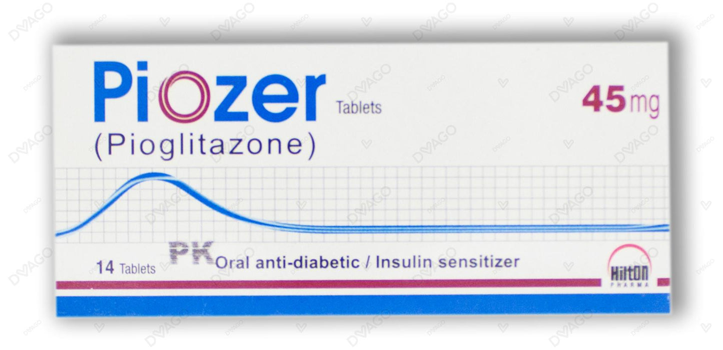 Piozer Tablets 45mg 14's