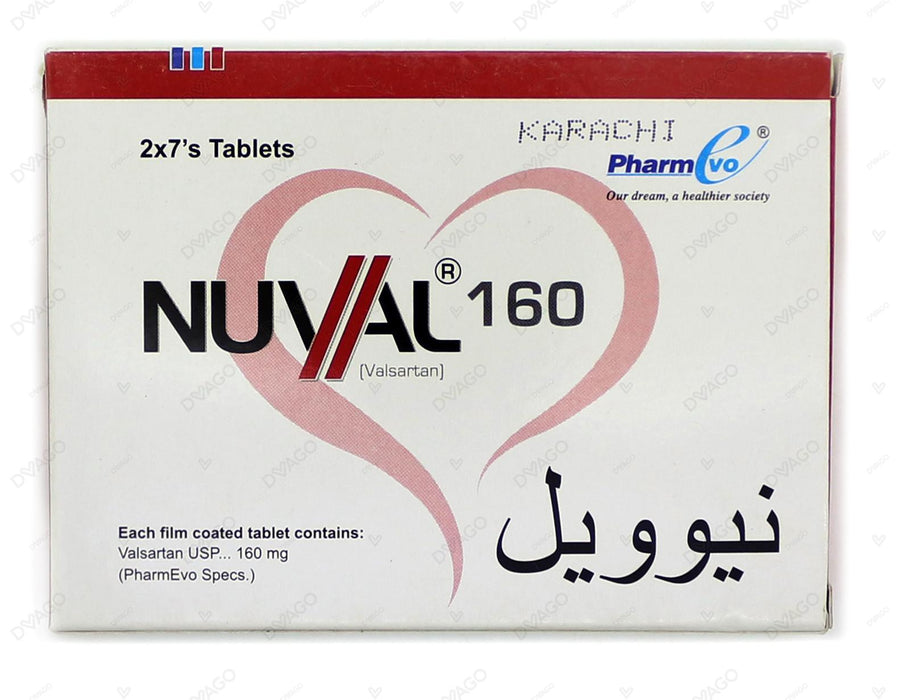 Nuval Tablets 160mg 14's