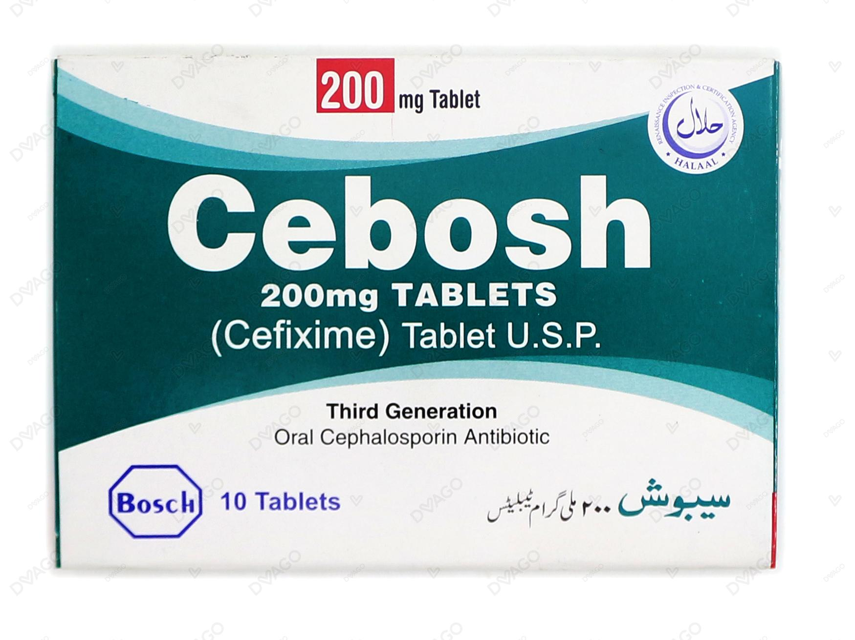 Cebosh Tablets 200mg 10's