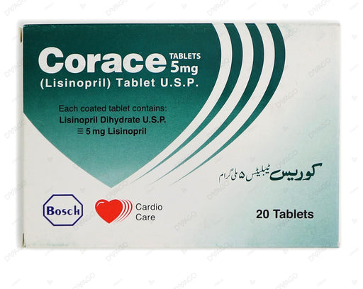 Corace Tablets 5mg 2X10's