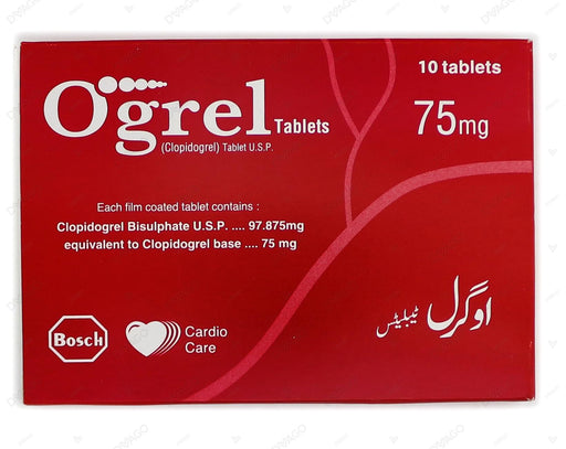 Ogrel Tablets 75mg 10's