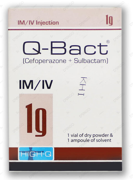 Q-Bact Injection 1g 1 Vial