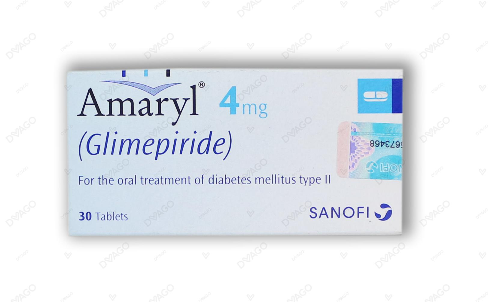 Amaryl Tablets 4mg 3X10's