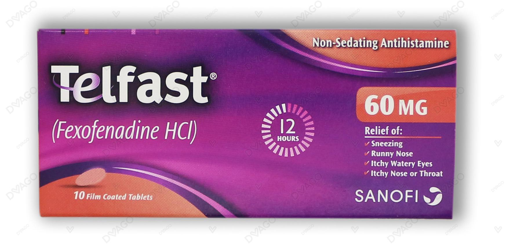 Telfast Tablets 60mg 10's
