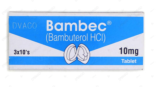 Bambec Tablets 10mg 3X10's