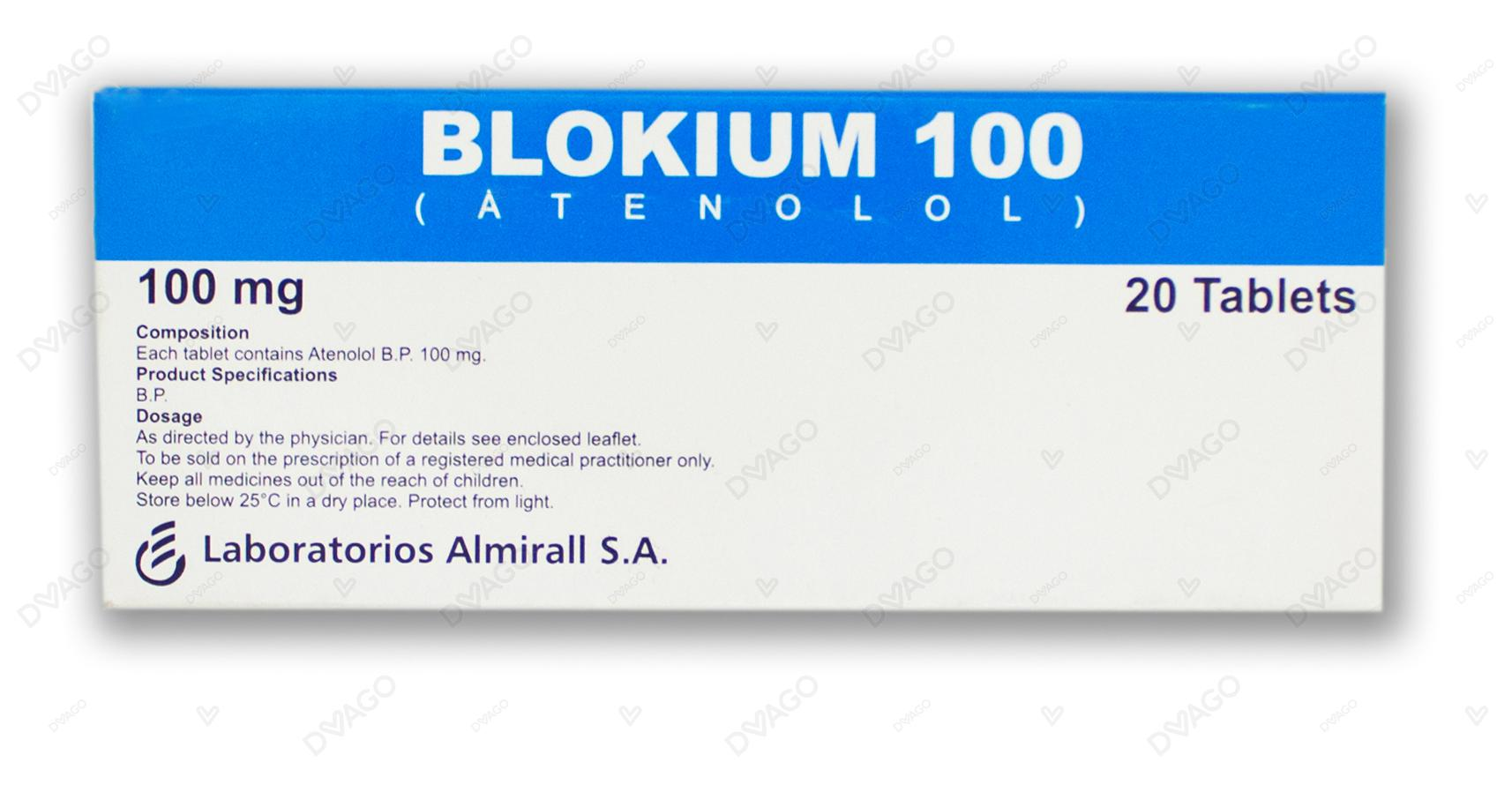 Blokium Tablets 100mg 20's