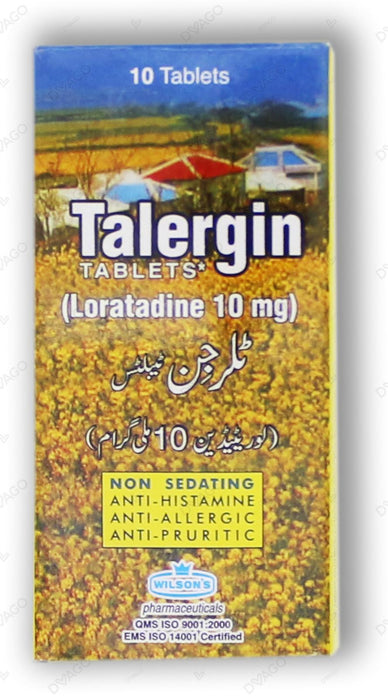 Talergin Tablets 10mg 10's