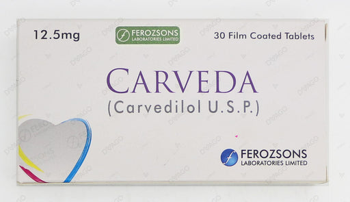 Carveda Tablets 12.5mg 30's