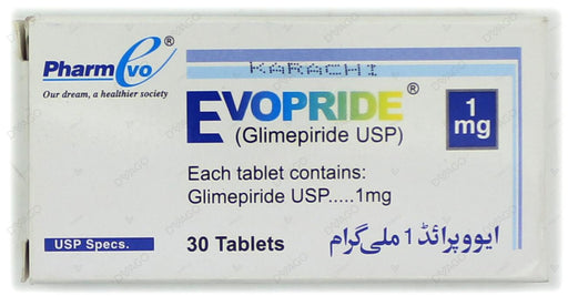 Evopride Tablets 1mg 2X10's