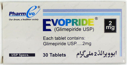 Evopride Tablets 2mg 3X10's