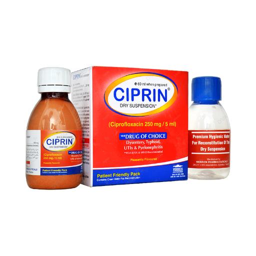Ciprin Susp 250 MG 60 ml
