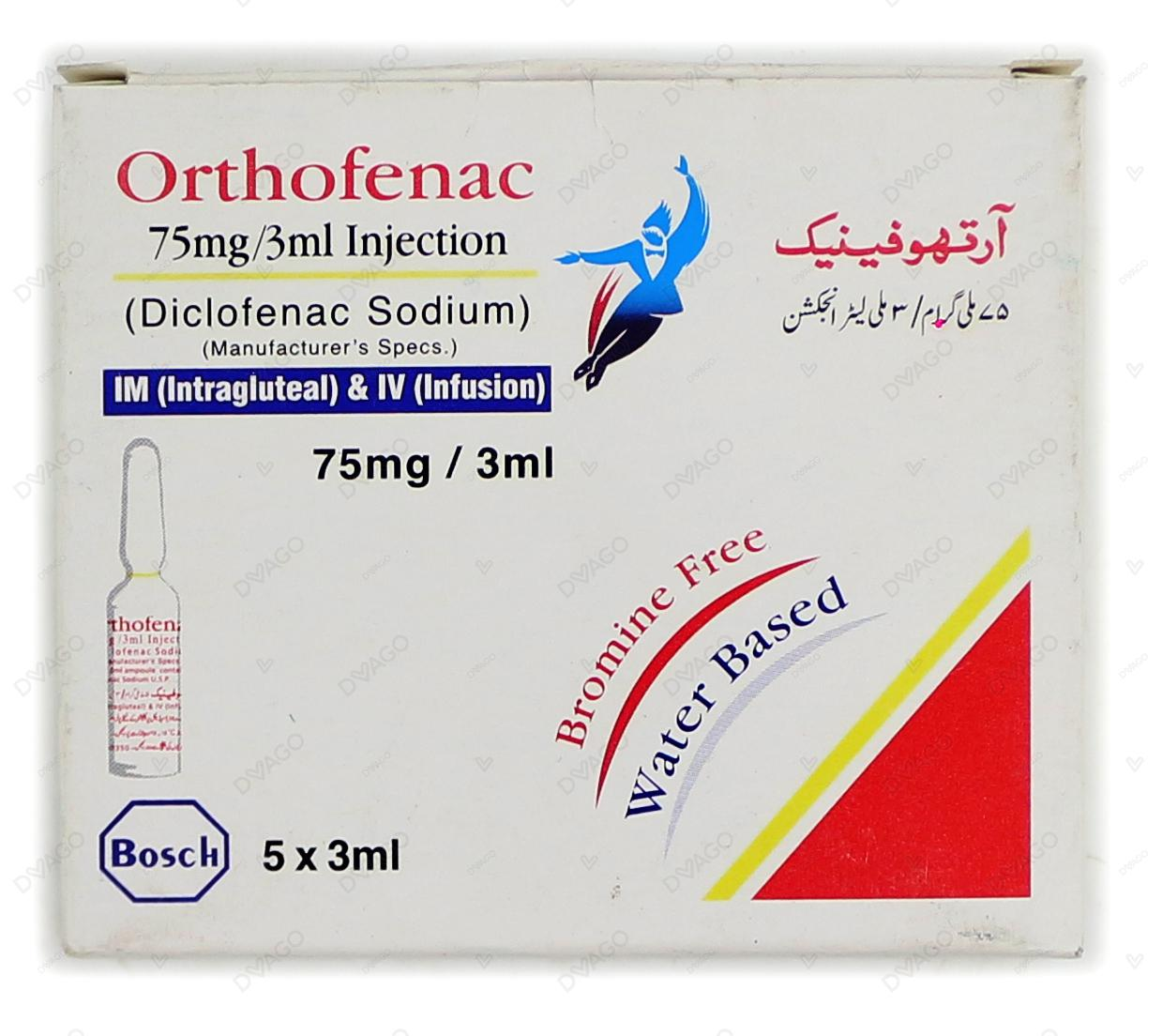 Orthofenac Injection 5 Ampoules X 3ml