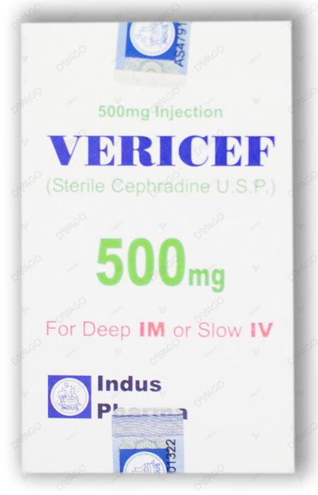 Vericef Injection 500mg 1 Vial