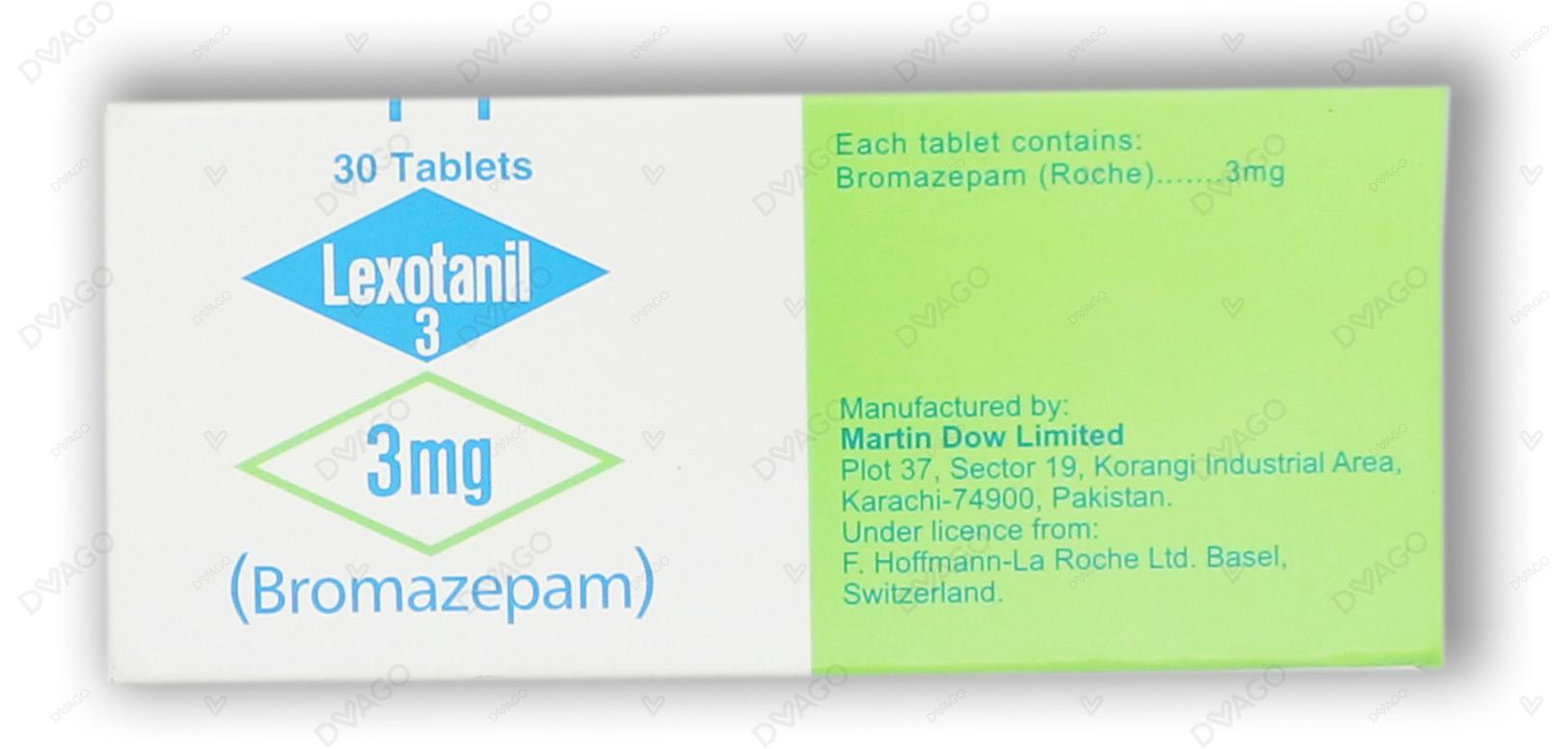 Lexotanil Tablets 3mg 3X10's