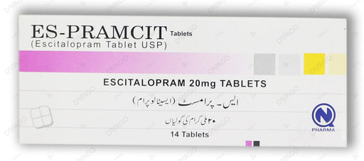 Es-Pramcit Tablets 20mg 14's
