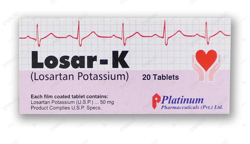 Losar -K Tablets 50mg 2X10's