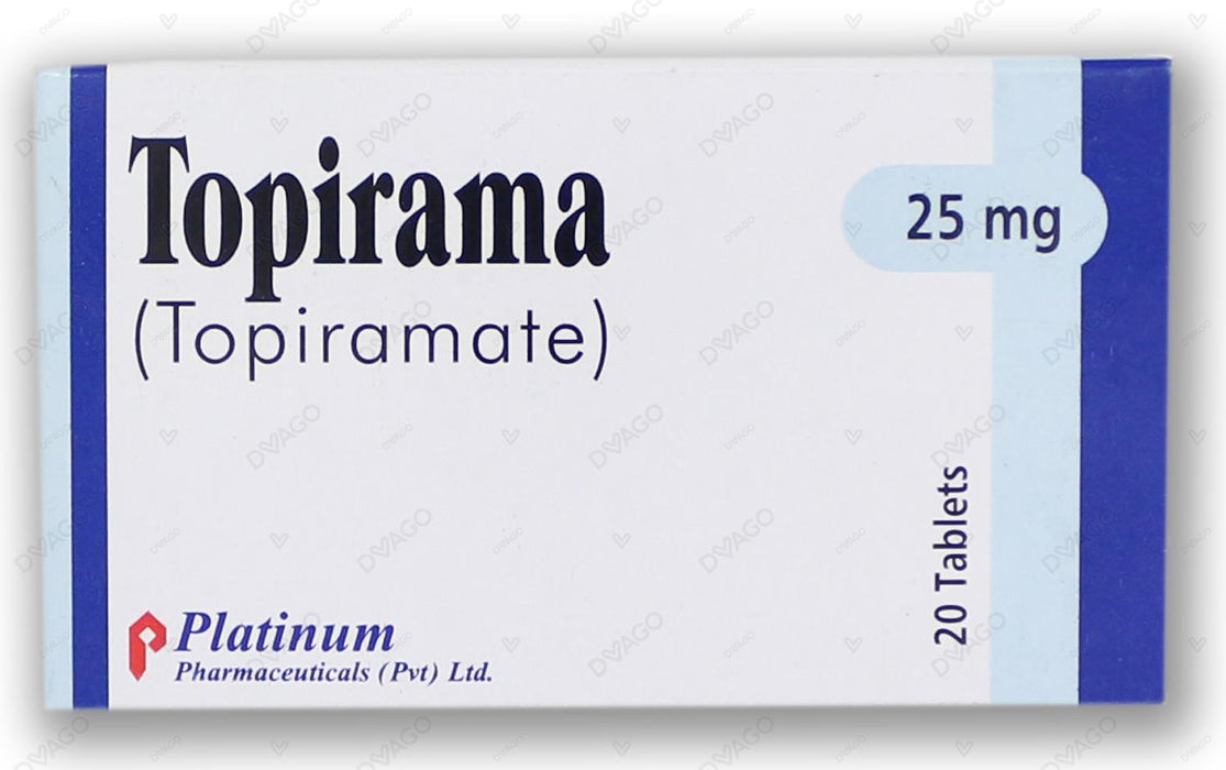 Topirama Tablets 25mg 2X10's