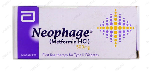 Neophage Tablets 500mg 5X10's