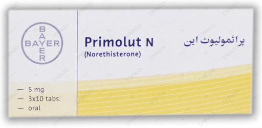 Primolut N Tablets 5mg 3X10's