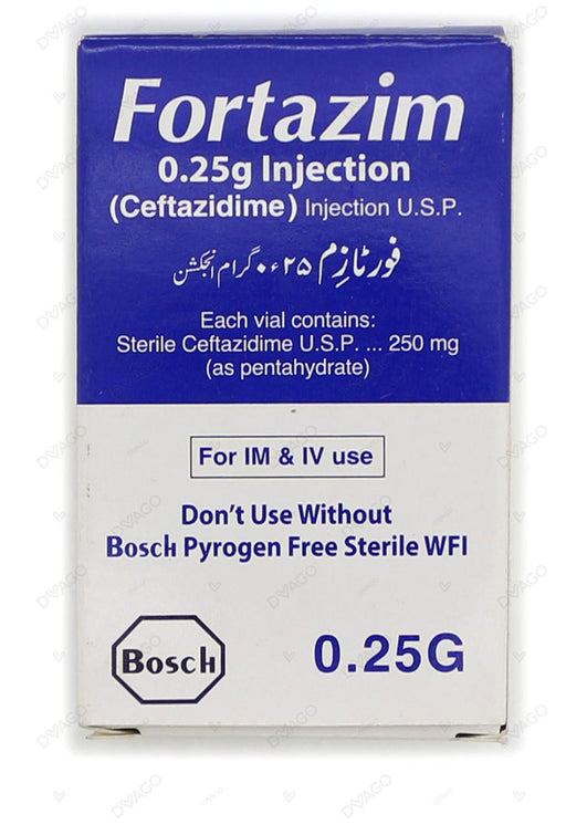 Fortazim Injection 250mg 1 Vial