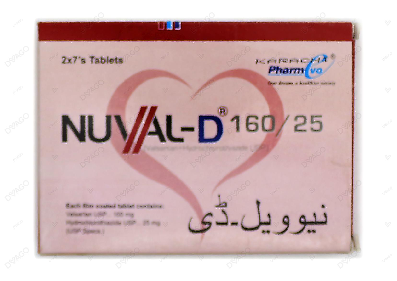 Nuval D Tablets 160/25mg 14's