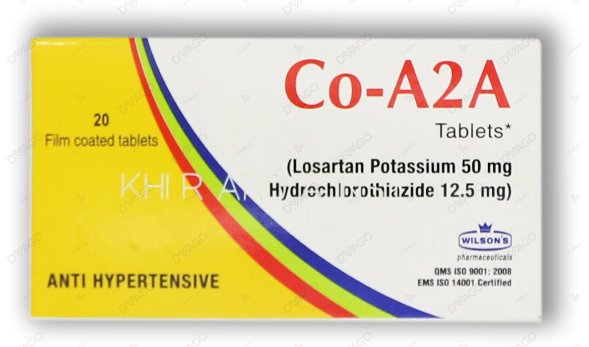 Co-A2A Tablets 50/12.5mg 20's