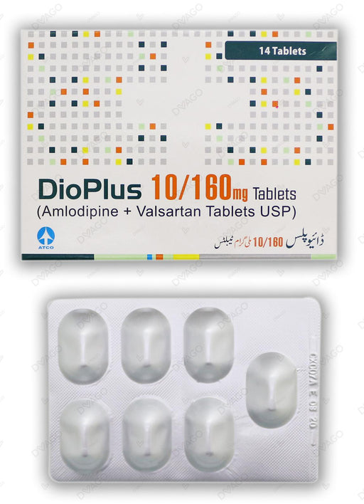 Dio Plus Tablets 10/160mg 14's