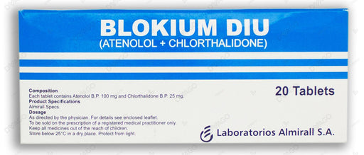 Blokium Diu Tablets 100mg 20's