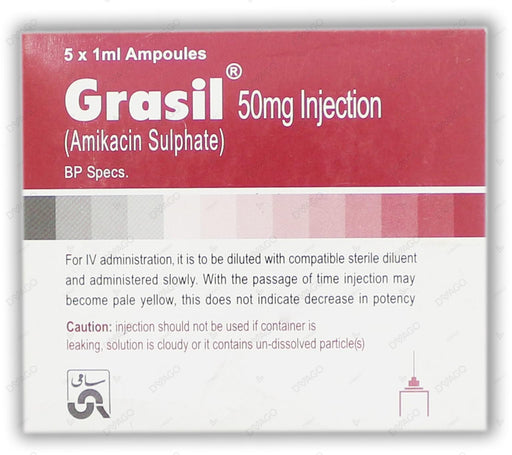 Grasil Injection 50mg 5 Ampoules X 1ml