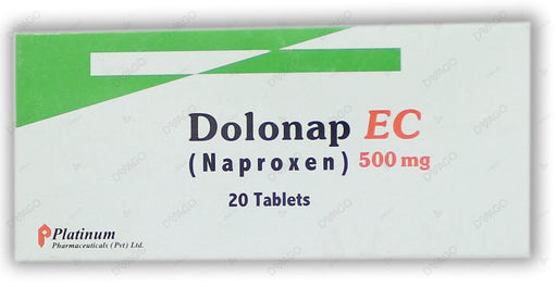 Dolonap Ec Tablets 500mg 2X10's