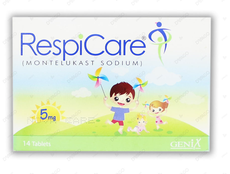 Respicare Tablets Chew 5mg 2X7's