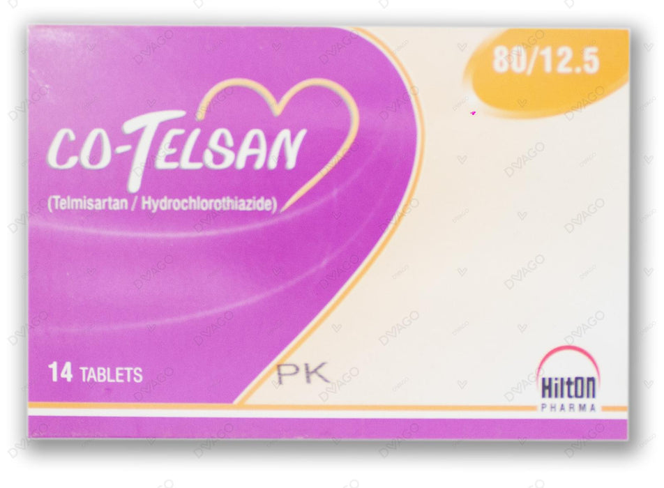 Co-Telsan Tablets 80/12.5mg 14's