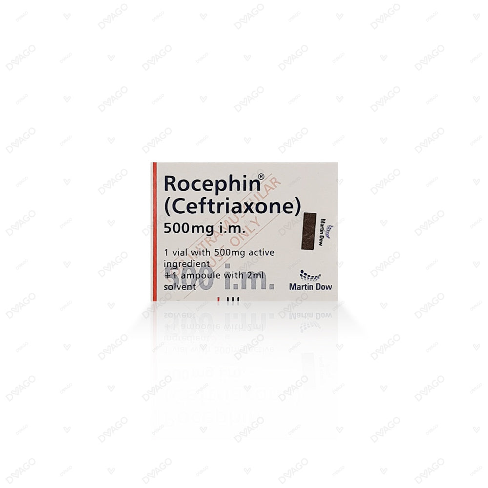 Rocephin 500mg Injection Im