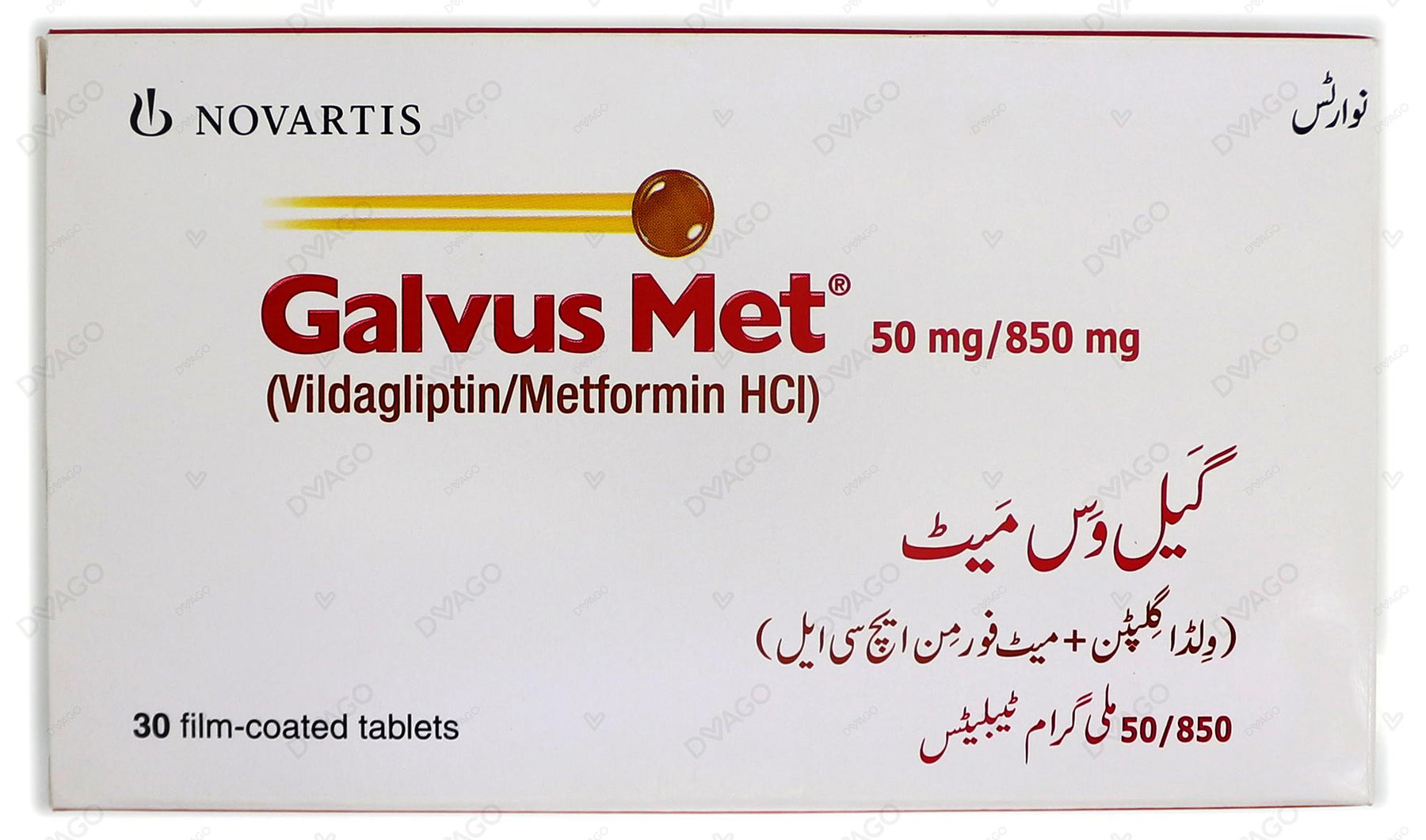 Galvus Met Tablets 50/850mg 30's