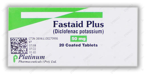 Fastaid Plus Tablets 50mg 2X10's