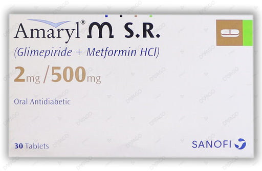 Amaryl M Tablets Sr 2/500mg 30's