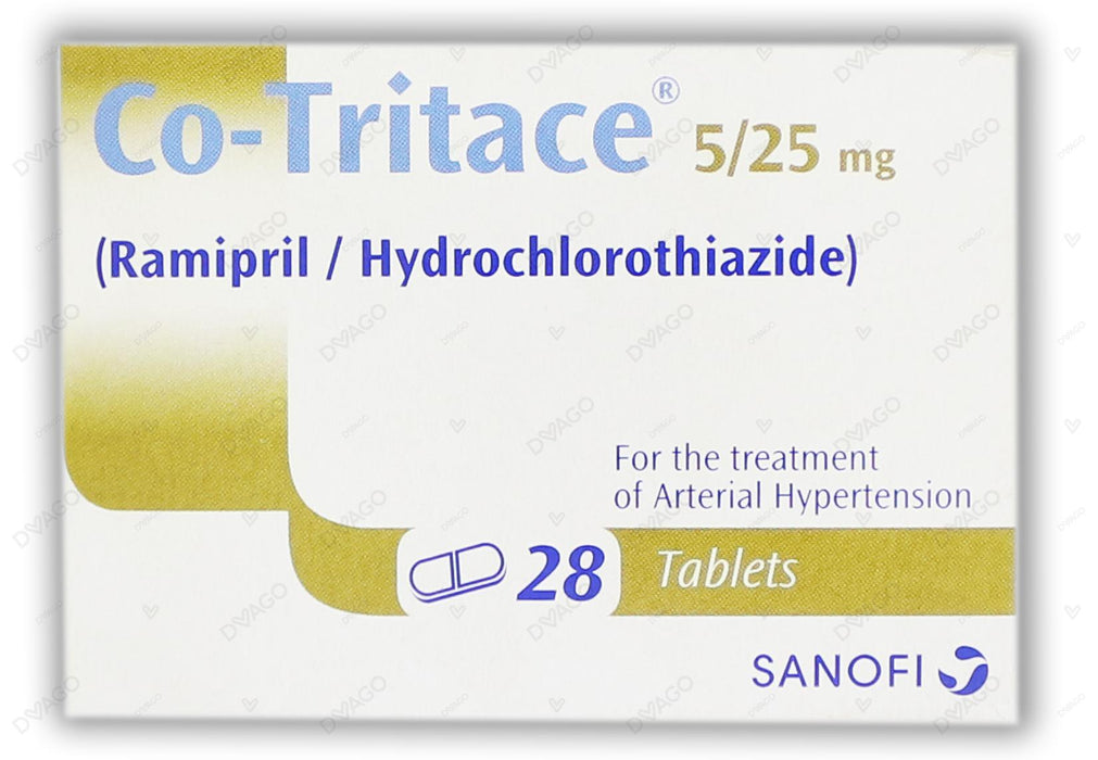 Co-Tritace Tablets 5/25mg 2X14's